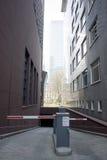 Entrata al parcheggio Fotografia Stock Libera da Diritti