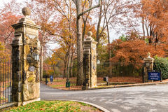 Entrata al parco di Lullwater, Atlanta, U.S.A. Fotografia Stock