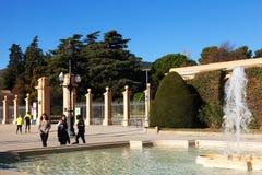 Entrata al parco di Pedralbes Royal Palace Fotografia Stock Libera da Diritti