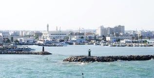Entrata al porto di La Goletta Fotografie Stock Libere da Diritti