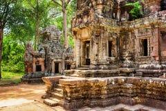 Entrata al santuario centrale del tempio di Thommanon, Cambogia Fotografia Stock Libera da Diritti