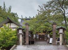 Entrata al santuario shintoista di Utasu a Kanazawa Fotografia Stock Libera da Diritti
