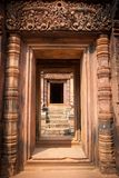 Entrata al tempiale, Angkor, Cambogia Fotografie Stock Libere da Diritti