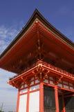 Entrata al tempiale di Kiyomizu-dera, Kyoto, Giappone Fotografia Stock Libera da Diritti