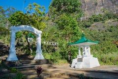 Entrata al tempio buddista Fotografia Stock