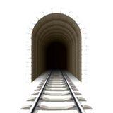 Entrata al traforo ferroviario Immagini Stock Libere da Diritti