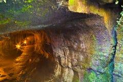 Entrata al tubo di lava fotografia stock