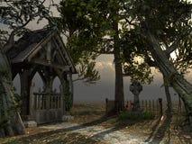 Entrata al vecchio cimitero Immagine Stock