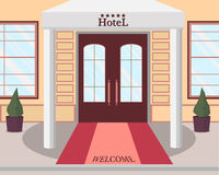 Entrata all'hotel royalty illustrazione gratis