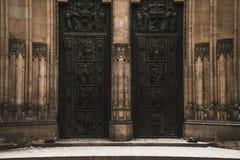 Entrata alla cattedrale fotografia stock
