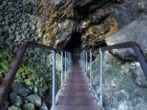 Entrata alla caverna del lago, Margaret River, Australia occidentale Fotografie Stock