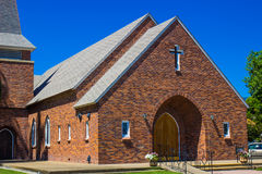 Entrata alla chiesa del mattone Immagine Stock Libera da Diritti