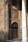 Entrata alla chiesa di Santa Sabina a Roma, Italia Immagini Stock Libere da Diritti
