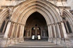 Entrata alla Corte di Giustizia reale Immagine Stock