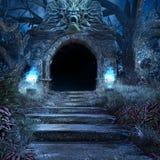 Entrata alla cripta spaventosa Fotografia Stock Libera da Diritti