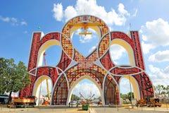 Entrata alla fiera in Siviglia, Andalusia, Spagna Fotografie Stock