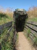 Entrata alla fossa per l'osservazione della fauna selvatica Fotografia Stock Libera da Diritti