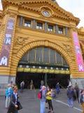 Entrata alla stazione ferroviaria storica Fotografia Stock Libera da Diritti
