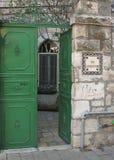 Entrata alla tomba del giardino, Gerusalemme, Israele immagine stock