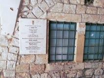 Entrata alla tomba del ` s di re David a Gerusalemme, Israele fotografia stock libera da diritti