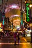 Entrata alla via di Fremont, Las Vegas Immagini Stock Libere da Diritti