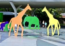 Entrata allo zoo Miami Fotografie Stock Libere da Diritti