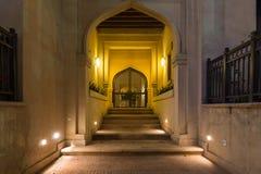 Entrata araba alla notte Fotografie Stock