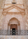 Entrata a Castel del Monte, Puglia, Italia Fotografia Stock