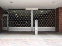Entrata chiusa da un parkhouse Fotografia Stock Libera da Diritti