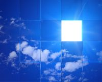 Entrata a cielo Fotografie Stock Libere da Diritti