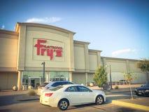 Entrata d'annata di tono della vendita al dettaglio di elettronica di Frys a Irving fotografie stock
