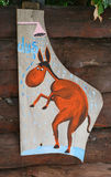 Entrata d'attaccatura della doccia del segno di legno Immagini Stock Libere da Diritti