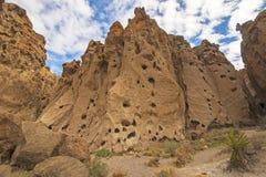 Entrata d'imposizione ad un canyon del deserto fotografia stock