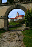 Entrata del castello Fotografie Stock