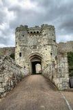 Entrata del castello Immagini Stock
