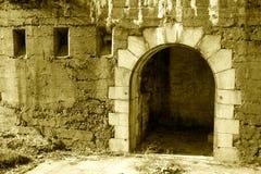 Entrata del castello fotografia stock