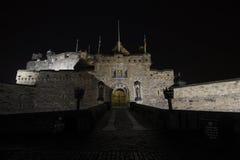 Entrata del castello di Edimburgo, Edimburgo, Scozia Fotografia Stock Libera da Diritti