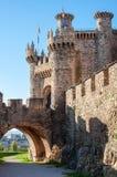 Entrata del castello di Ponferrada Fotografie Stock Libere da Diritti