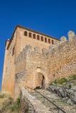 Entrata del castello medievale di Alquezar Fotografia Stock Libera da Diritti