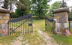 Entrata del cimitero Immagine Stock