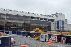 Entrata del ` dei costruttori, Hart Lane Stadium bianco fotografia stock