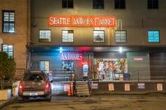 Entrata del deposito del mercato degli oggetti d'antiquariato di Seattle Fotografie Stock Libere da Diritti