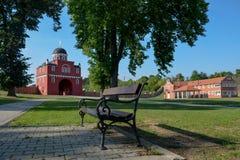 Entrata del monastero Krusedol Immagine Stock