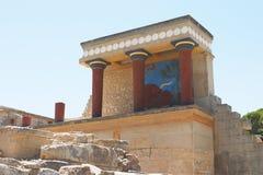 Entrata del nord 1 di Knossos fotografie stock libere da diritti
