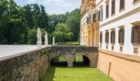 Entrata del palazzo di Eggenberg fotografia stock