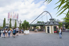 Entrata del parco di europa in ruggine, Germania Fotografie Stock