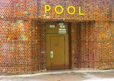 Entrata del pubblico della piscina Fotografia Stock