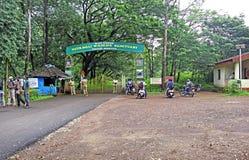 Entrata del santuario di fauna selvatica di Netravali Fotografia Stock