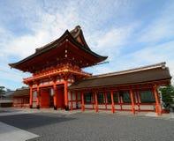 Entrata del santuario di Fushimi Inari Fotografia Stock Libera da Diritti