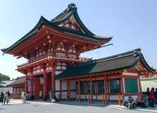 Entrata del santuario di Fushimi Inari, Kyoto Immagini Stock